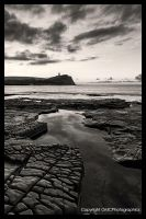 Dawn over Kimmeridge in BnW by GMCPhotographics