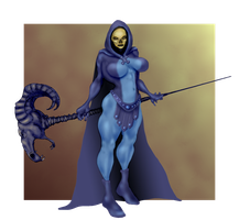 Lady Skeletor by Selkirk _COLORS_ by carol-colors
