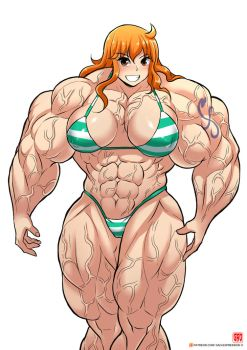 Nami's Been Working Out...A lot by UltraReaper233