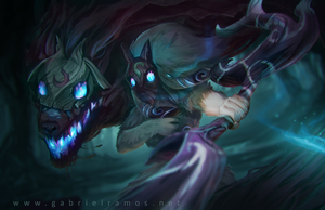 Kindred - League of Legends FanArt by GabeRamos