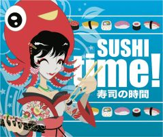 Sushi Time Lunch Box Design by chinaguy16