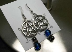 Blue Witch Earrings by IdolRebel