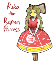 Ruka The Ramen Princess REDRAW by Ask-The-OC-Factory