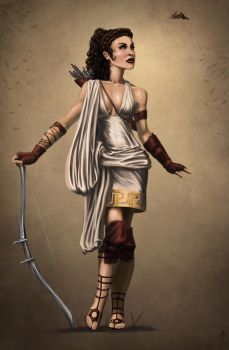 Artemis: Greek Goddess of the Hunt by rob-powell
