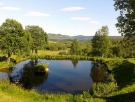 Mountain pond stock by Just-Stocks