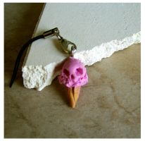 Numb Skull cell phone charm by BananenFisch