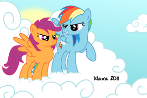 Rainbow Dash and Scootaloo by klaxa
