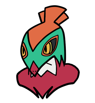 Digitally Redrawn Hawlucha by TempestVortex