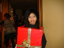 Me as Christmas box girl for Samantha's birthday 1 by Magic-Kristina-KW