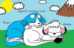Weed and Kimba sleeping... by Alchemy-girl