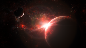 Planets in Red (Wallpaper) by Hardii