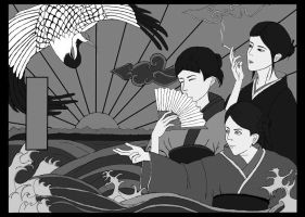 Ukiyo-e for my friends by chinaichigo