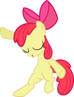 MLP: Apple Bloom showing her dance moves v2 by FloppyChiptunes