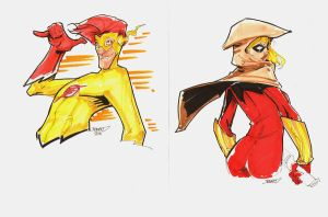 20 Commission Kid Flash Speedy by rantz
