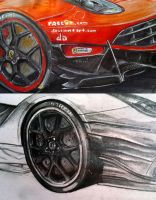 F12berlinetta sketch and WIP by HorcikDesigns