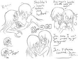K-ON Yuri Sketch by jaja-sick-bear