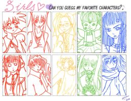 Favorite Girl Characters by anAngelNamed-Xavi