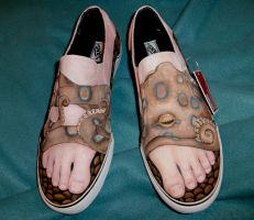 blue-ringed octopus shoes by Banvivirie