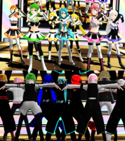 MMD Happy Synthesizer + Video Links by CrimsonKingie