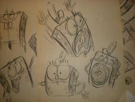 SPONGEBOB sketches! by brianpitt