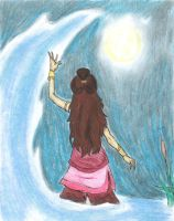 I Rise With The Moon- Katara by SilverEyes-chan