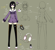 Ayane Miwa - reference sheet by HazelRuko