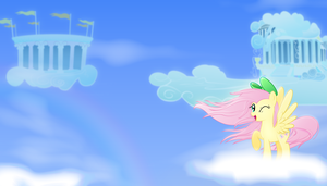Fluttershy-wallpaper v2 by rainbownspeedash