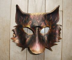 Metallic Fire Wolf Mask by Jedi-With-Wings