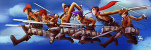 Attack on Crossovers [SnK Crossover AU] by witch-girl-pilar