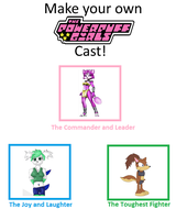The PowerPuff Girls (The Friends Girls Style) by FoxPrinceAgain