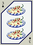 Chiles en Nogada - Three of Spades by Figren