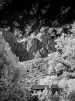 Canyon Junction Bridge in Infrared by eprowe