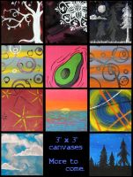 "3""x3"" Canvases by Destiny-Carter"