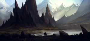 Fantasy Landscape Study by HazPainting