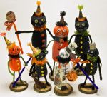 Halloween Folk Art Dolls by The-GoblinQueen