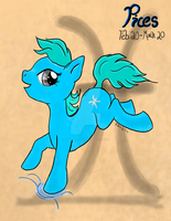 2nd In the Series Pices Zodiac Pony by LilWolfStudios
