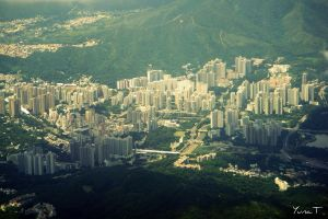 Hong Kong in the morning by YunaCookie