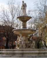 Fountain on Elizabeth Square in Budapest, Hungary by ordinarygirl1