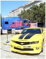 Optimus Prime and Bumblebee by StreetCatProject
