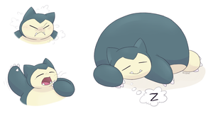Snorlax by YellowHellion