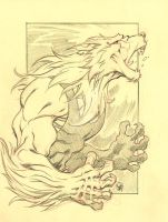 PENCIL COMMISSION: ICE WOLF by stalk