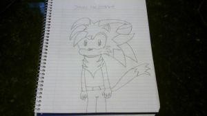 Johnny the Hedgewolf drawing by Johnny-HedgeWolf