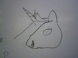 White Board Celestia by Winged--Maned--Wolf