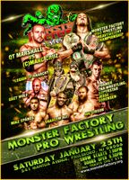 MONSTER FACTORY PRO WRESTLING event poster by TheIronSkull