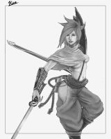 Riven as Yasuo by kiremeister