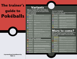 Trainer's guide to Pokeballs (pamphlet) by Darkpotato57