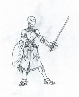 Lindsey's warforged chick by Nny2