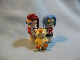 Wobbles: Team Rocket by okapirose