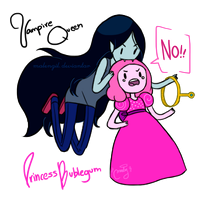 Marceline x Bubblegum by malengil