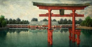 3d - Itsukushima Shrine by Araiel